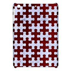 Puzzle1 White Marble & Red Grunge Apple Ipad Mini Hardshell Case by trendistuff