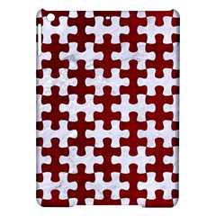 Puzzle1 White Marble & Red Grunge Ipad Air Hardshell Cases by trendistuff