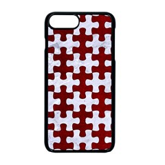 Puzzle1 White Marble & Red Grunge Apple Iphone 8 Plus Seamless Case (black) by trendistuff