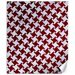 Houndstooth2 White Marble & Red Grunge Canvas 20  X 24   by trendistuff
