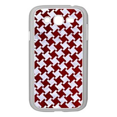 Houndstooth2 White Marble & Red Grunge Samsung Galaxy Grand Duos I9082 Case (white) by trendistuff