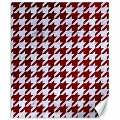 Houndstooth1 White Marble & Red Grunge Canvas 20  X 24   by trendistuff