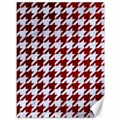 Houndstooth1 White Marble & Red Grunge Canvas 36  X 48   by trendistuff