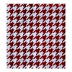 Houndstooth1 White Marble & Red Grunge Shower Curtain 66  X 72  (large)  by trendistuff