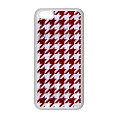 Houndstooth1 White Marble & Red Grunge Apple Iphone 5c Seamless Case (white) by trendistuff