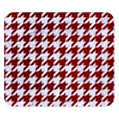 Houndstooth1 White Marble & Red Grunge Double Sided Flano Blanket (small)  by trendistuff