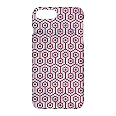 Hexagon1 White Marble & Red Grunge (r) Apple Iphone 7 Plus Hardshell Case