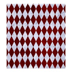 Diamond1 White Marble & Red Grunge Shower Curtain 66  X 72  (large)  by trendistuff