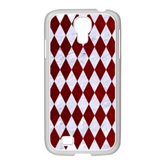 Diamond1 White Marble & Red Grunge Samsung Galaxy S4 I9500/ I9505 Case (white) by trendistuff