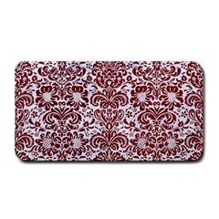 Damask2 White Marble & Red Grunge (r) Medium Bar Mats by trendistuff