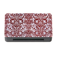 Damask2 White Marble & Red Grunge (r) Memory Card Reader With Cf by trendistuff