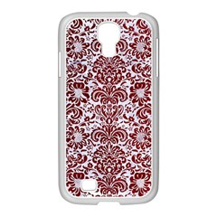 Damask2 White Marble & Red Grunge (r) Samsung Galaxy S4 I9500/ I9505 Case (white) by trendistuff