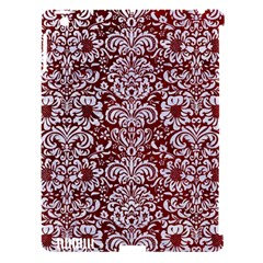 Damask2 White Marble & Red Grunge Apple Ipad 3/4 Hardshell Case (compatible With Smart Cover) by trendistuff