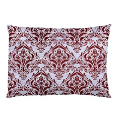 Damask1 White Marble & Red Grunge (r) Pillow Case by trendistuff