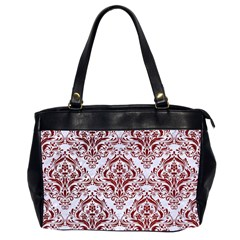 Damask1 White Marble & Red Grunge (r) Office Handbags (2 Sides)  by trendistuff