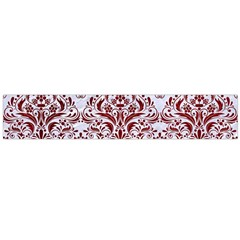 Damask1 White Marble & Red Grunge (r) Large Flano Scarf  by trendistuff