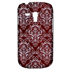 Damask1 White Marble & Red Grunge Galaxy S3 Mini