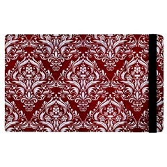 Damask1 White Marble & Red Grunge Apple Ipad Pro 12 9   Flip Case by trendistuff