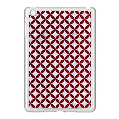 Circles3 White Marble & Red Grunge (r) Apple Ipad Mini Case (white) by trendistuff