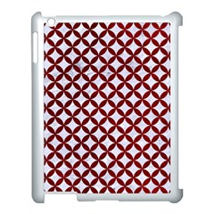 Circles3 White Marble & Red Grunge (r) Apple Ipad 3/4 Case (white) by trendistuff