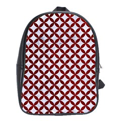 Circles3 White Marble & Red Grunge (r) School Bag (xl) by trendistuff