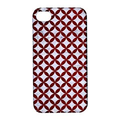 Circles3 White Marble & Red Grunge (r) Apple Iphone 4/4s Hardshell Case With Stand by trendistuff