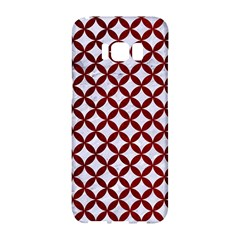 Circles3 White Marble & Red Grunge (r) Samsung Galaxy S8 Hardshell Case  by trendistuff
