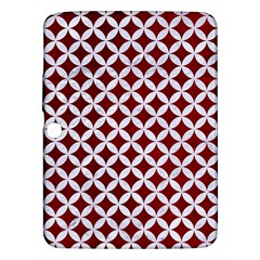 Circles3 White Marble & Red Grunge Samsung Galaxy Tab 3 (10 1 ) P5200 Hardshell Case  by trendistuff