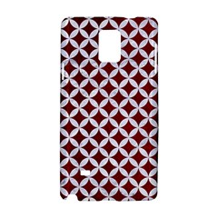 Circles3 White Marble & Red Grunge Samsung Galaxy Note 4 Hardshell Case by trendistuff