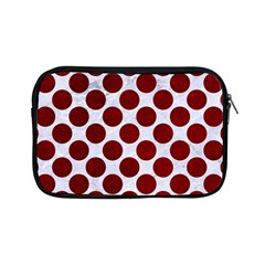 Circles2 White Marble & Red Grunge (r) Apple Ipad Mini Zipper Cases by trendistuff
