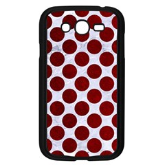 Circles2 White Marble & Red Grunge (r) Samsung Galaxy Grand Duos I9082 Case (black) by trendistuff