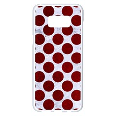Circles2 White Marble & Red Grunge (r) Samsung Galaxy S8 Plus White Seamless Case by trendistuff