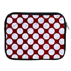 Circles2 White Marble & Red Grunge Apple Ipad 2/3/4 Zipper Cases by trendistuff