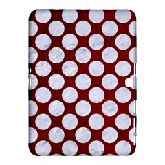 Circles2 White Marble & Red Grunge Samsung Galaxy Tab 4 (10 1 ) Hardshell Case  by trendistuff