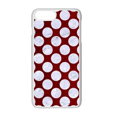 Circles2 White Marble & Red Grunge Apple Iphone 7 Plus Seamless Case (white) by trendistuff