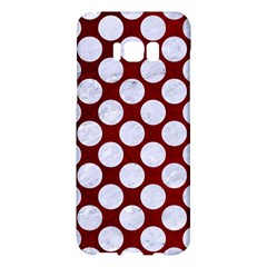 Circles2 White Marble & Red Grunge Samsung Galaxy S8 Plus Hardshell Case  by trendistuff