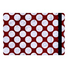 Circles2 White Marble & Red Grunge Apple Ipad Pro 10 5   Flip Case by trendistuff