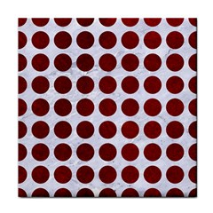 Circles1 White Marble & Red Grunge (r) Face Towel by trendistuff