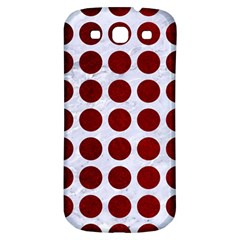 Circles1 White Marble & Red Grunge (r) Samsung Galaxy S3 S Iii Classic Hardshell Back Case by trendistuff
