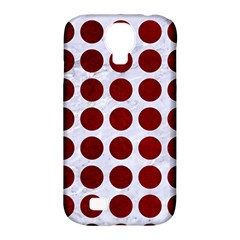 Circles1 White Marble & Red Grunge (r) Samsung Galaxy S4 Classic Hardshell Case (pc+silicone) by trendistuff