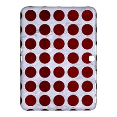 Circles1 White Marble & Red Grunge (r) Samsung Galaxy Tab 4 (10 1 ) Hardshell Case  by trendistuff