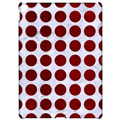 Circles1 White Marble & Red Grunge (r) Apple Ipad Pro 12 9   Hardshell Case by trendistuff