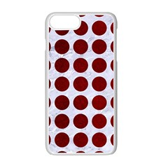 Circles1 White Marble & Red Grunge (r) Apple Iphone 7 Plus Seamless Case (white) by trendistuff