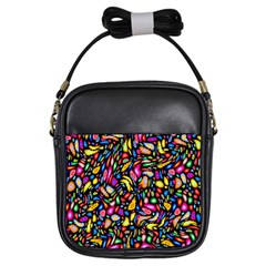 Artwork By Patrick Colorful 24 Girls Sling Bags by ArtworkByPatrick