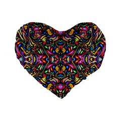 Artwork By Patrick Colorful 24 1 Standard 16  Premium Flano Heart Shape Cushions by ArtworkByPatrick