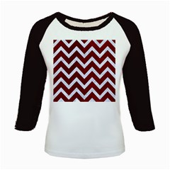 Chevron9 White Marble & Red Grunge Kids Baseball Jerseys