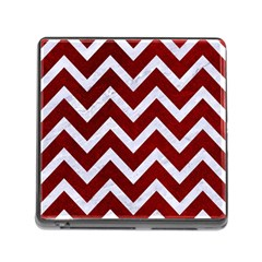 Chevron9 White Marble & Red Grunge Memory Card Reader (square) by trendistuff