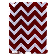Chevron9 White Marble & Red Grunge Apple Ipad 3/4 Hardshell Case (compatible With Smart Cover) by trendistuff