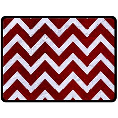 Chevron9 White Marble & Red Grunge Double Sided Fleece Blanket (large)  by trendistuff