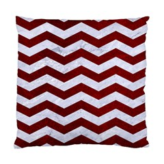 Chevron3 White Marble & Red Grunge Standard Cushion Case (two Sides) by trendistuff